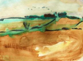 Winter fields,near Myrtleville, Watercolour,,2017, 20 x 30cm,