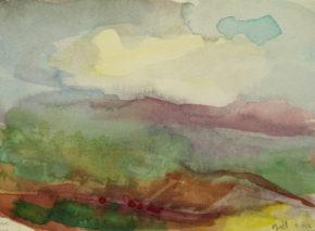 Across the Valley,watercolour,20 x 30cm,2016